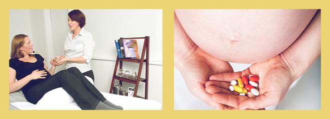 беременная девушка у врача