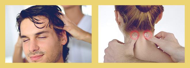 массаж головы, массаж шеи