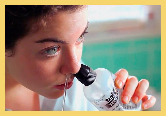 Процесс промывание носа