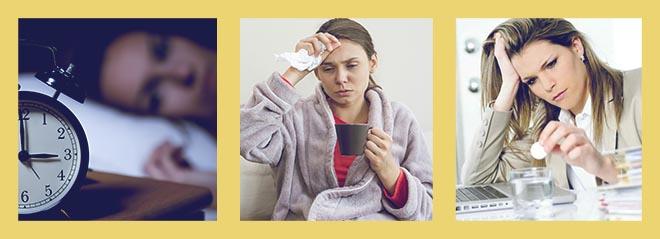бессонница, простуда, стресс