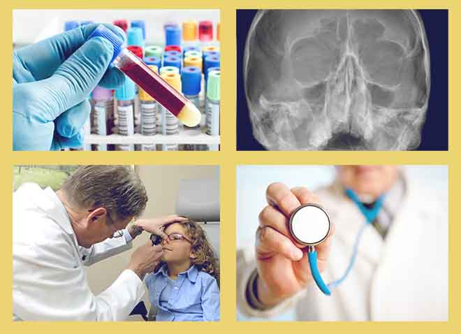 осмотр пациента, Общий анализ крови, осмотр носовых полостей, Рентген пазух