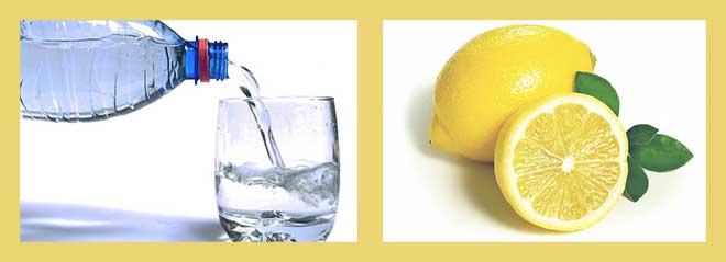 стакан воды. лимон